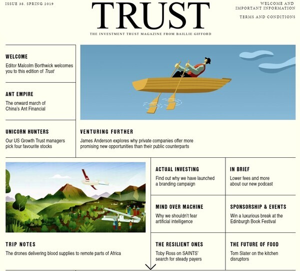 Advertisement: Baillie Gifford Trust Magazine