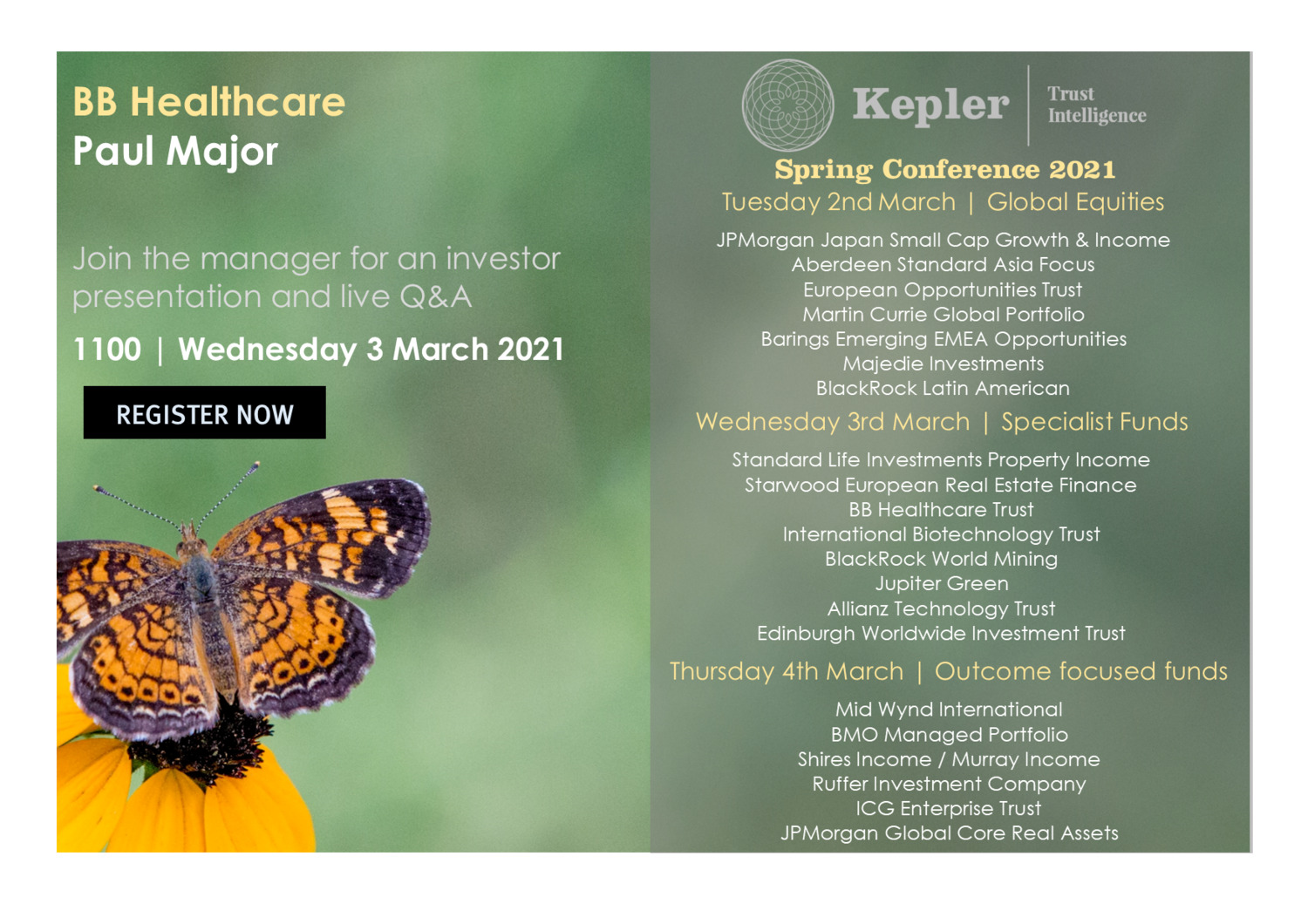 Kepler Spring Conference - BB Healthcare